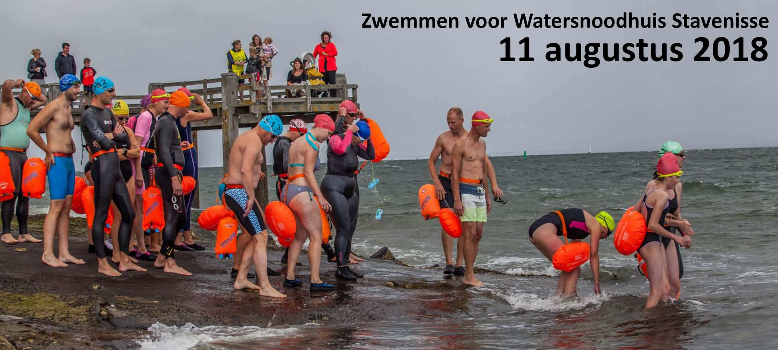 A.S. zaterdag Zwemtocht voor Watersnoodhuis