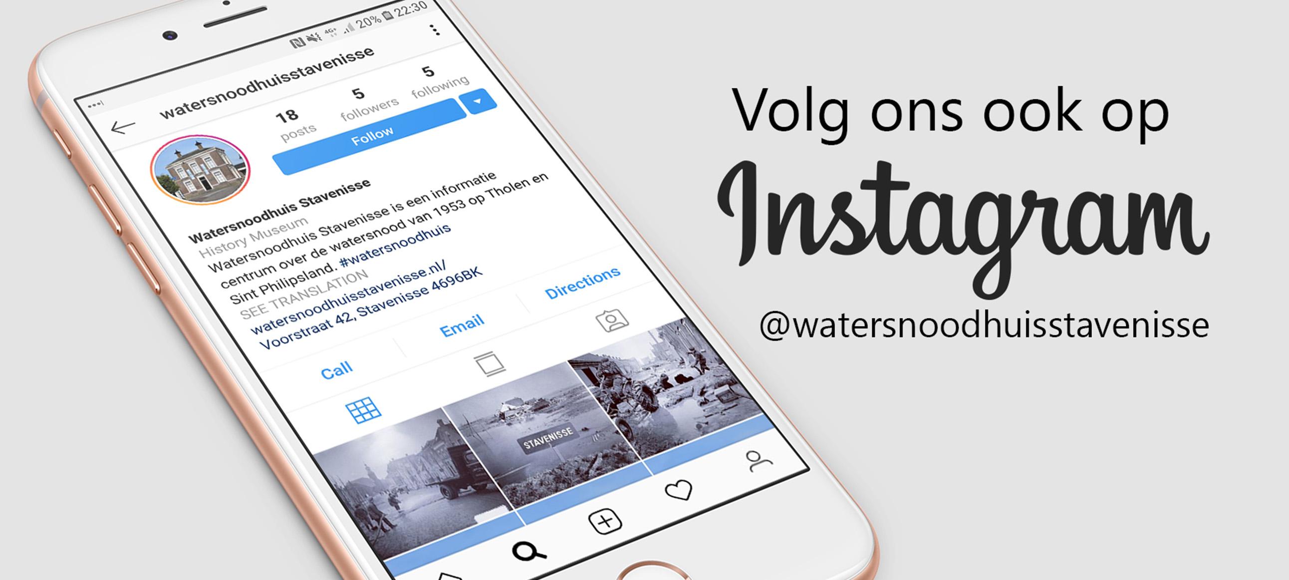 Watersnoodhuis ook op Instagram